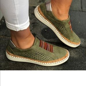 NEW ,Just Fashion Now, green mesh loafers